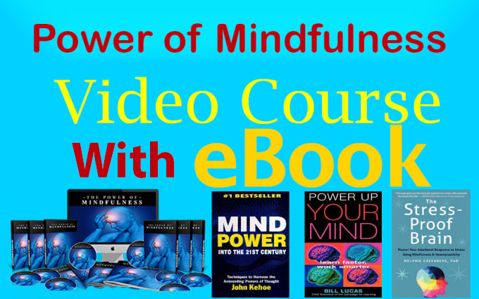 power of mindfulness professional video course MRR,  eBook