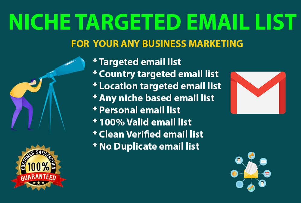 I will collect targeted email list for marketing within 24 hours