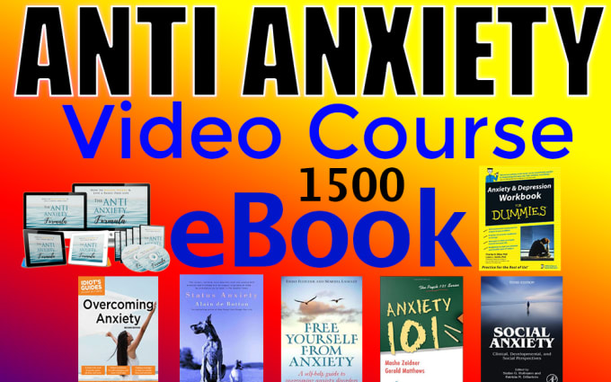 anti anxiety professional video course with eBooks pack