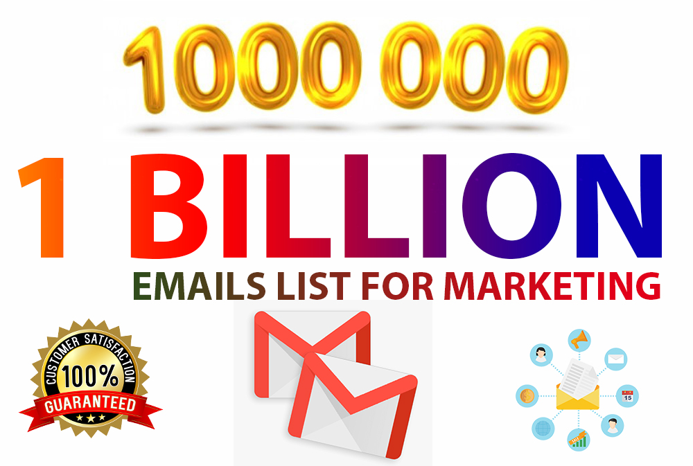 I Will Provide 1000 Million+ Active Email List