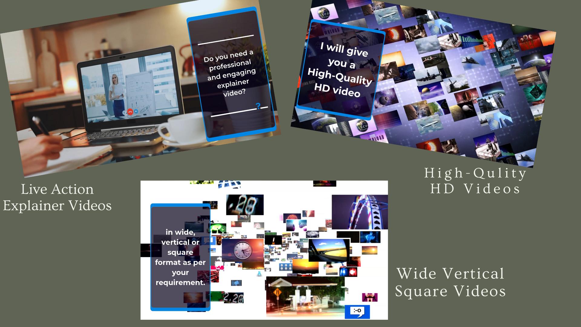 I will create elegant live action explainer videos