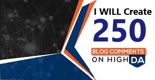 I WILL Create 250 Manual Dofollow Blog Comments on High DA PA Site