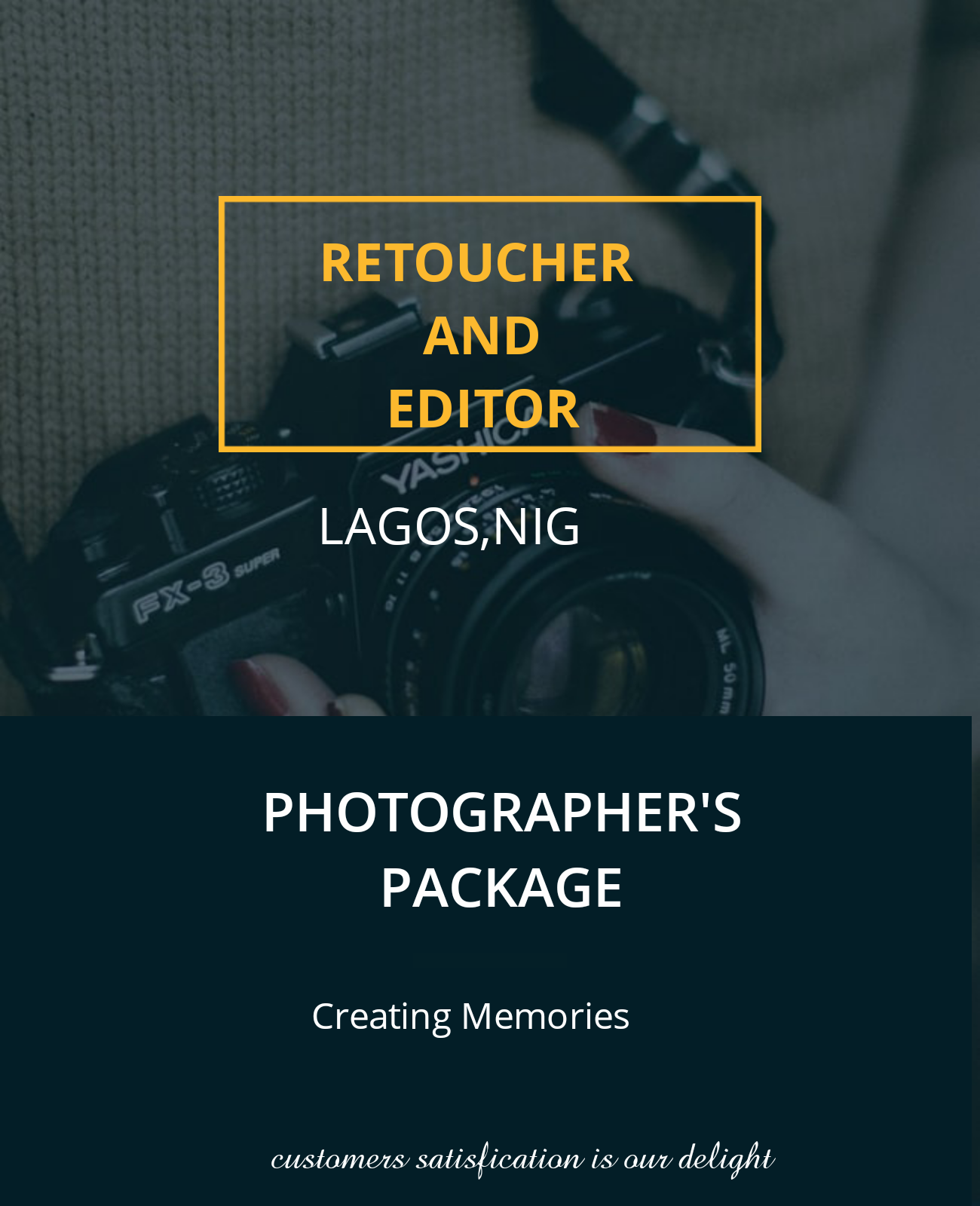 Creator of nicely, well edited pictures using either Photoshop, Lightroom or Davinci resolve.