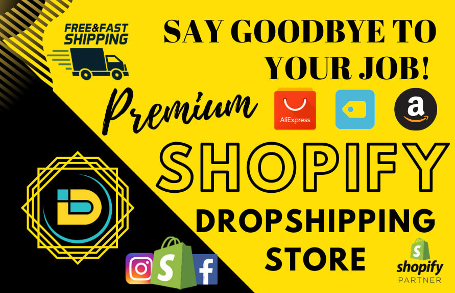 I will design a premium shopify dropshipping store or website