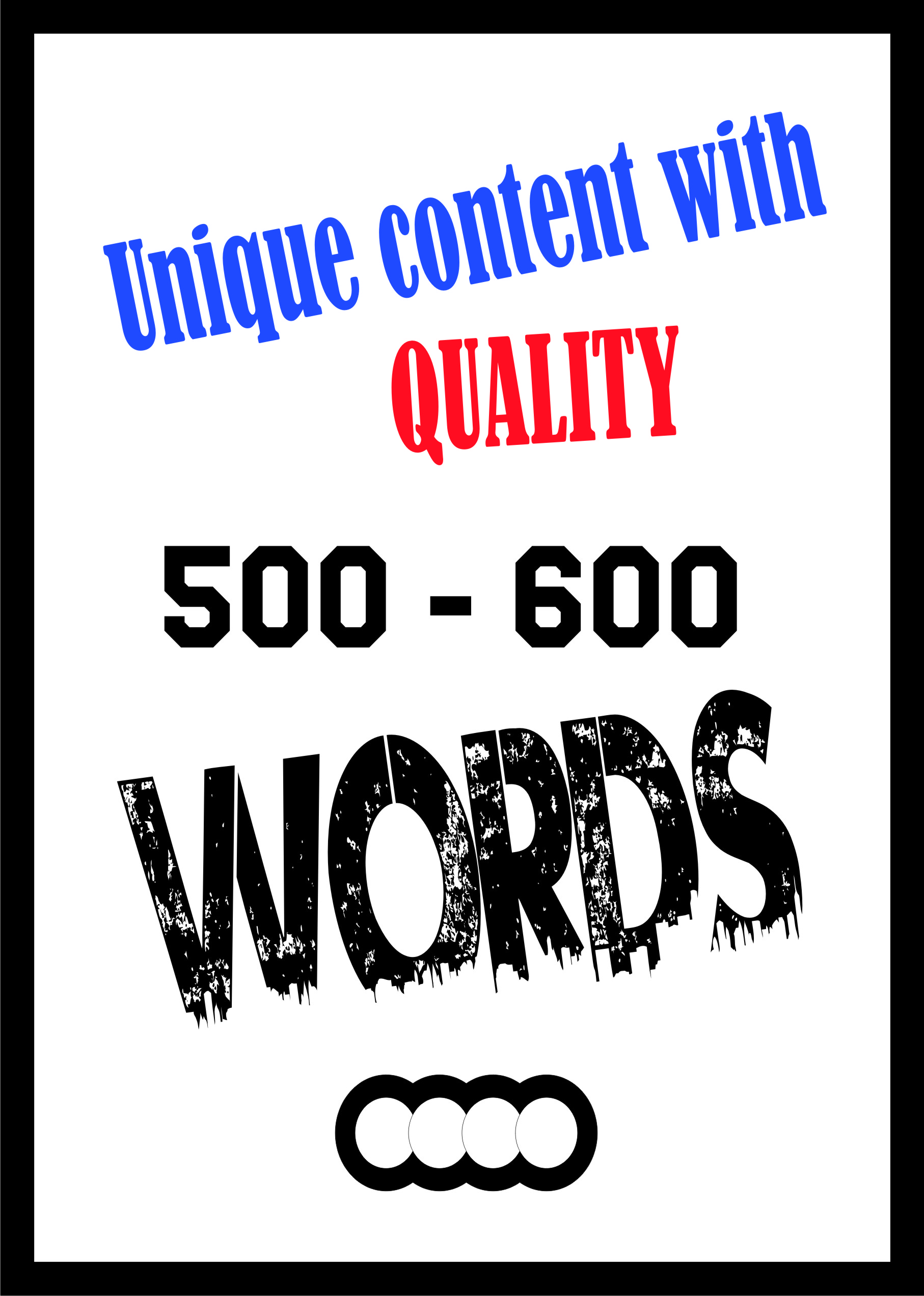 I will manually write quality article s of 500-600words for websites/personal use