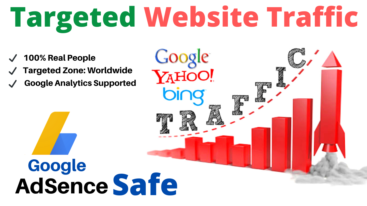 1500+ Google Adsense Safe Country Targeted Traffic to Your Web or Blog Site