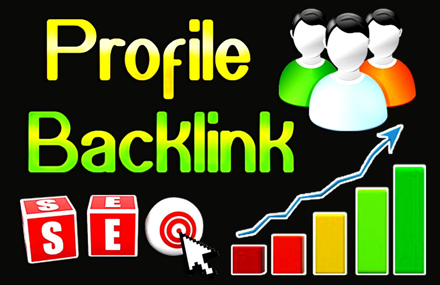 Create 30 high authority profile backlinks for your website