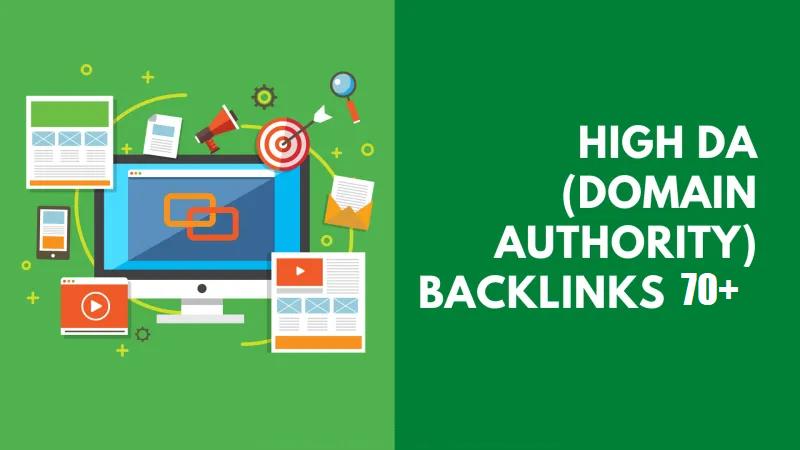 High Domain Authority Backinks DA 70+