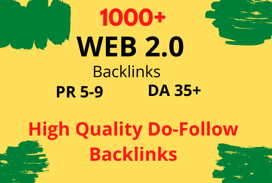 I will create 1000+ manual web 2 0 backlinks for uniqe sites