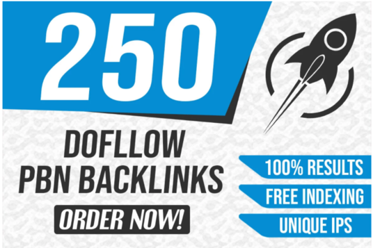 250 permanent High quality PBN backlinks with unique article and boost your website.
