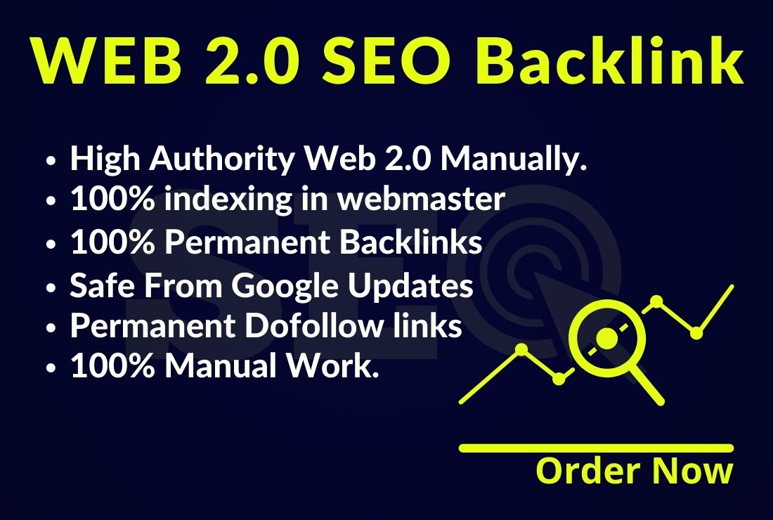 Get MANUALLY DA 35+ PA35+ web 2.0 100 Powerful Backlinks 100 unique site