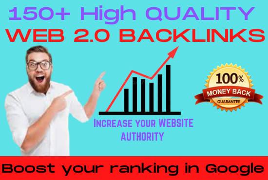 I will create 150 manual web 2 0 backlinks for uniqe sites
