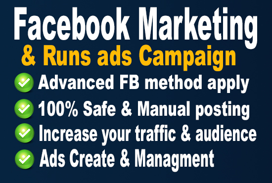 I will do facebook marketing in USA and run ads for your business