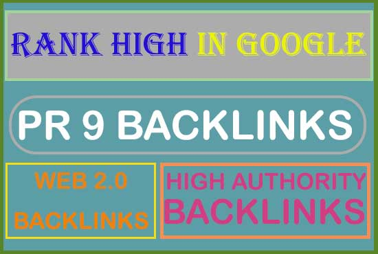 i will provide super quality web 2.0 ,PR 9,dofollow authority backlinks.
