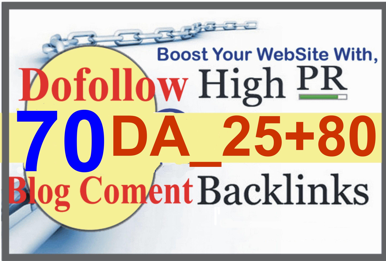 I will build 70 high pr quality authority dofollow backlinks pa da seo