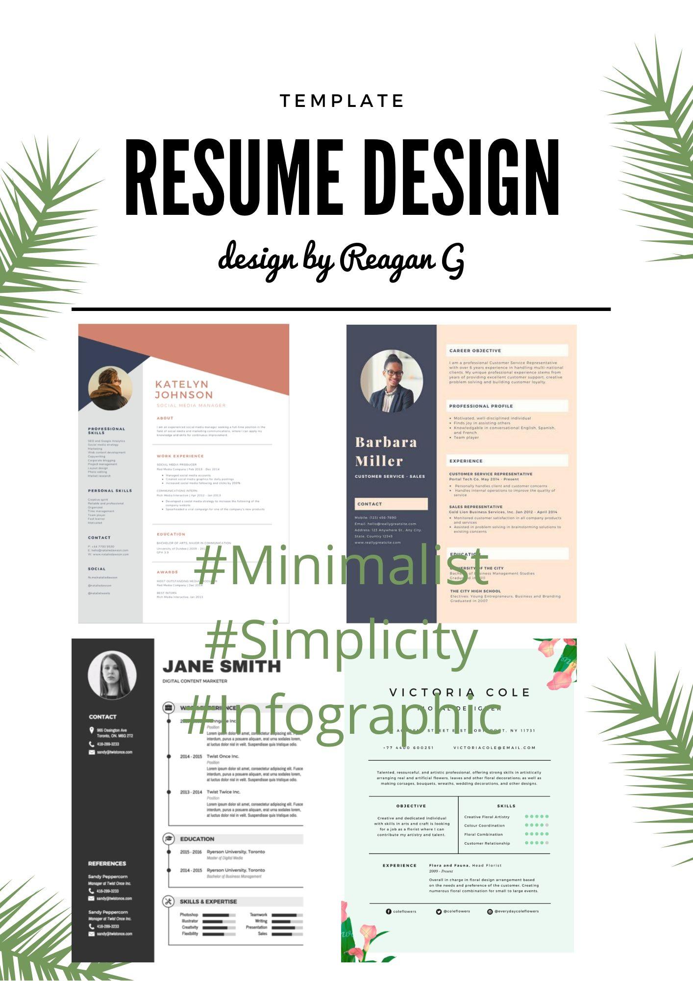 Professional,  Creative,  Infographic RESUME/ CV/ PORTFOLIO Design