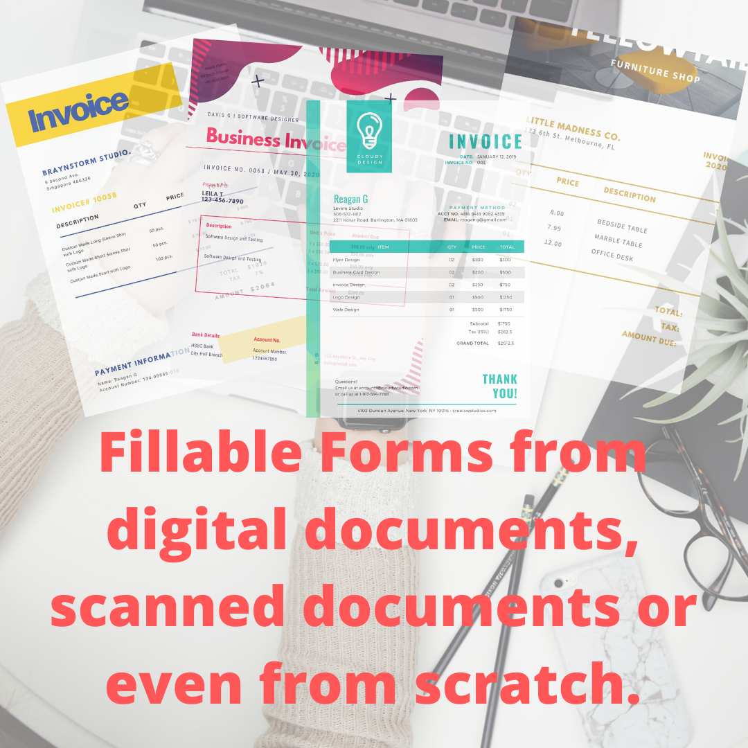 Create Fillable PDF Form/ Edit/ Conversion