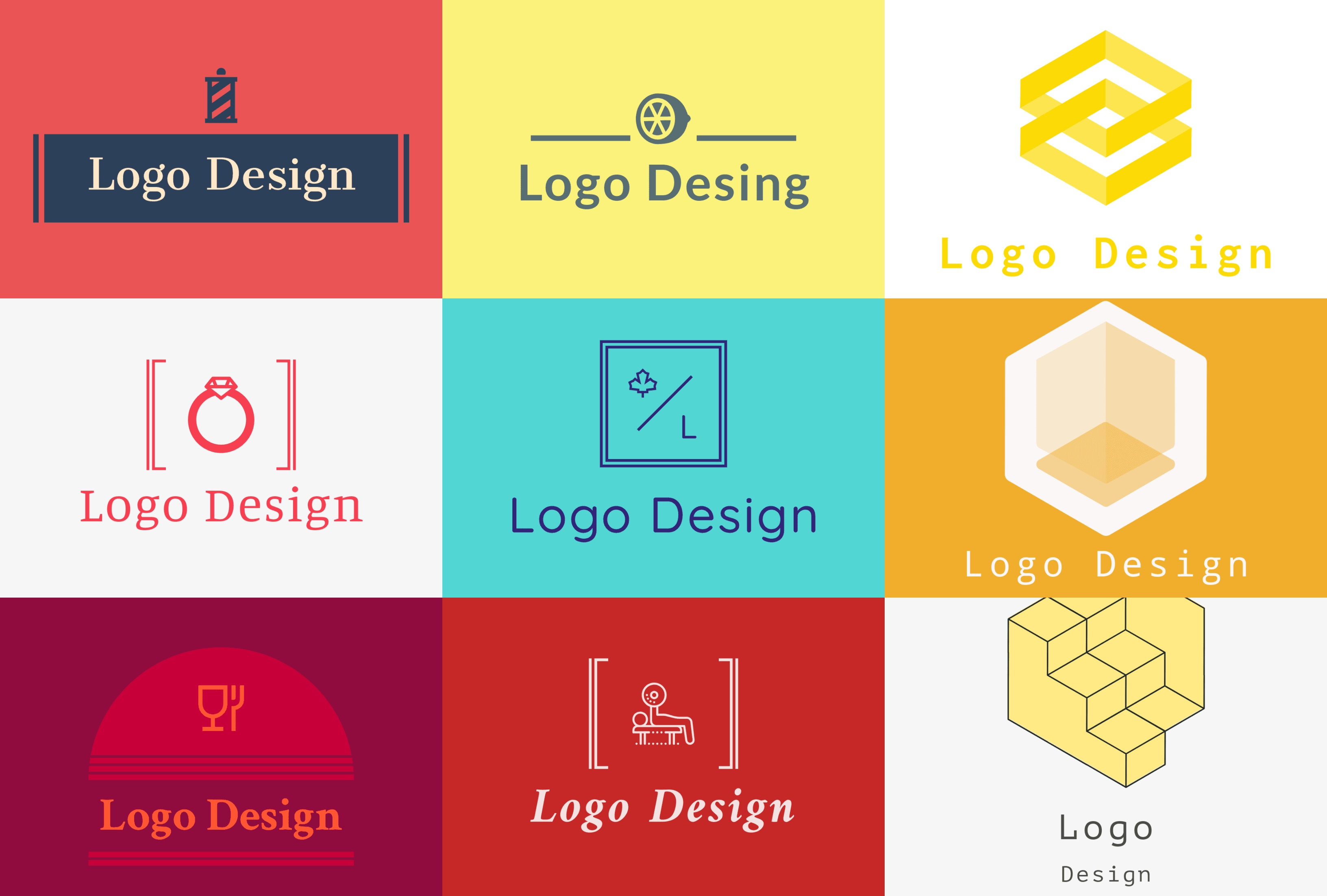 3 creative logo design 2D for you in just 24 hours
