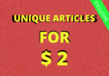 I will Write Unique Articles of 500 Words In One day