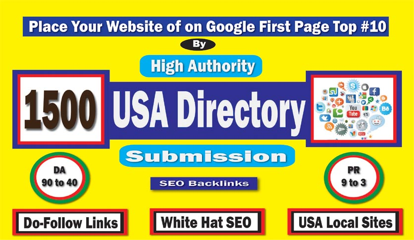 Build 1500 USA Directory Submission SEO Backlinks