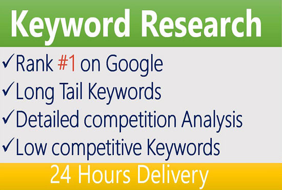 I will do SEO keyword research,  competitor analysis
