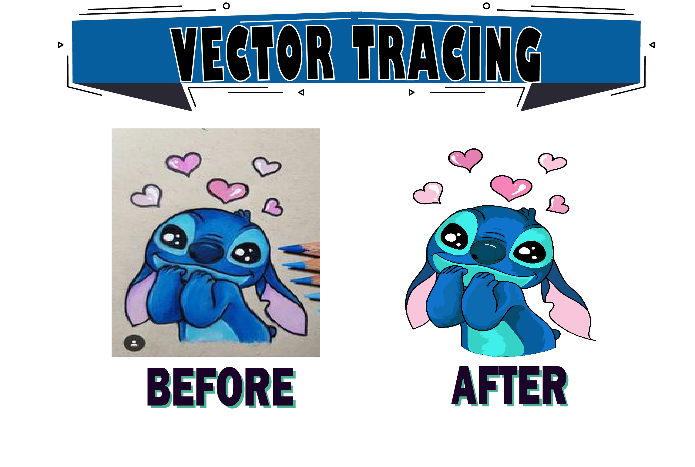 I will vectorize, do vector tracing of any logo or image