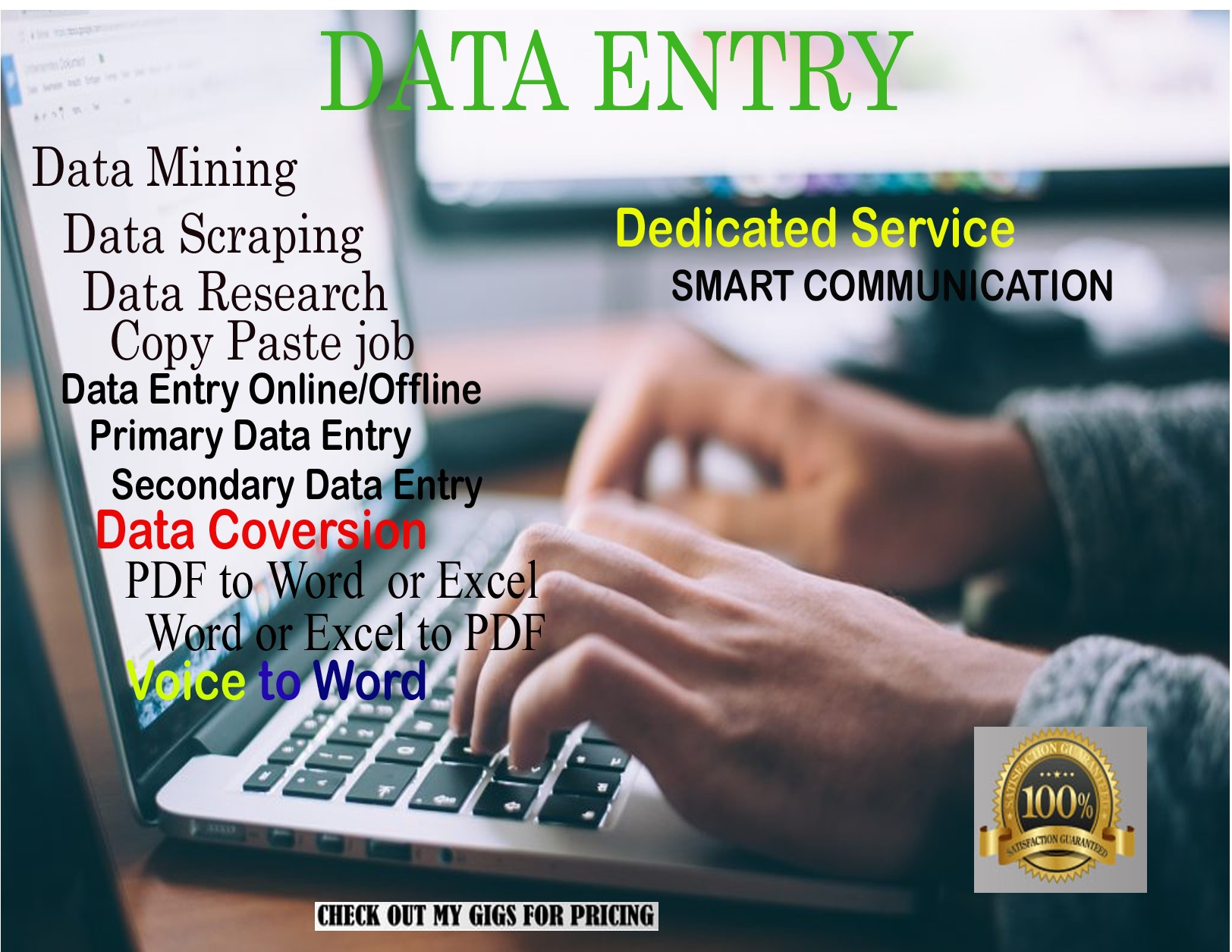Data Entry Work With Dedicated Service