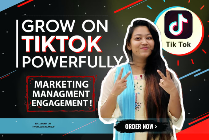 I will organically do tik tok marketing to grow followers and engagement