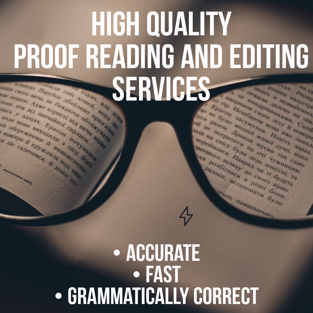 I will do high quality, professional proof reading services for articles of 500 words for 3$
