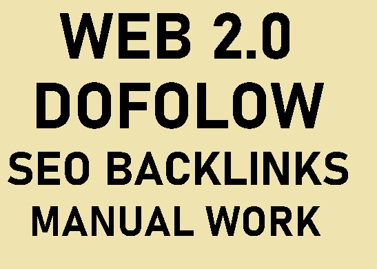 I will 20 dofollow web 2.0 manual seo backlinks