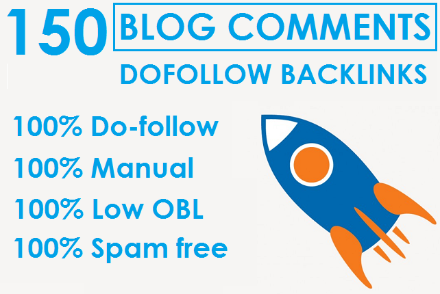 I will Do 150 Dofollow Blog Comments On High DA PA sites