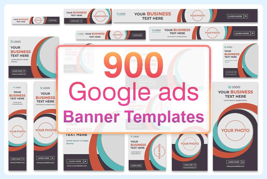 900 Google ads banner templates