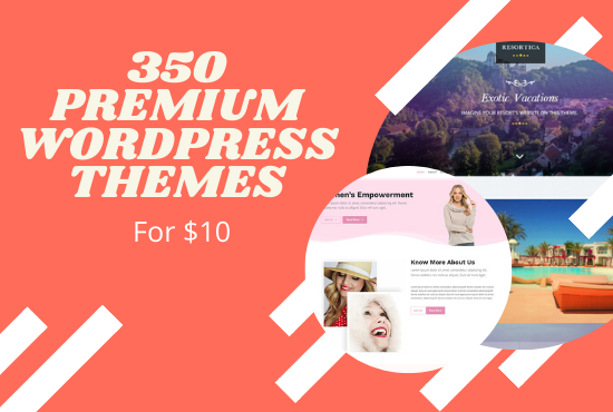 i will give you 350 best premium wordpress themes