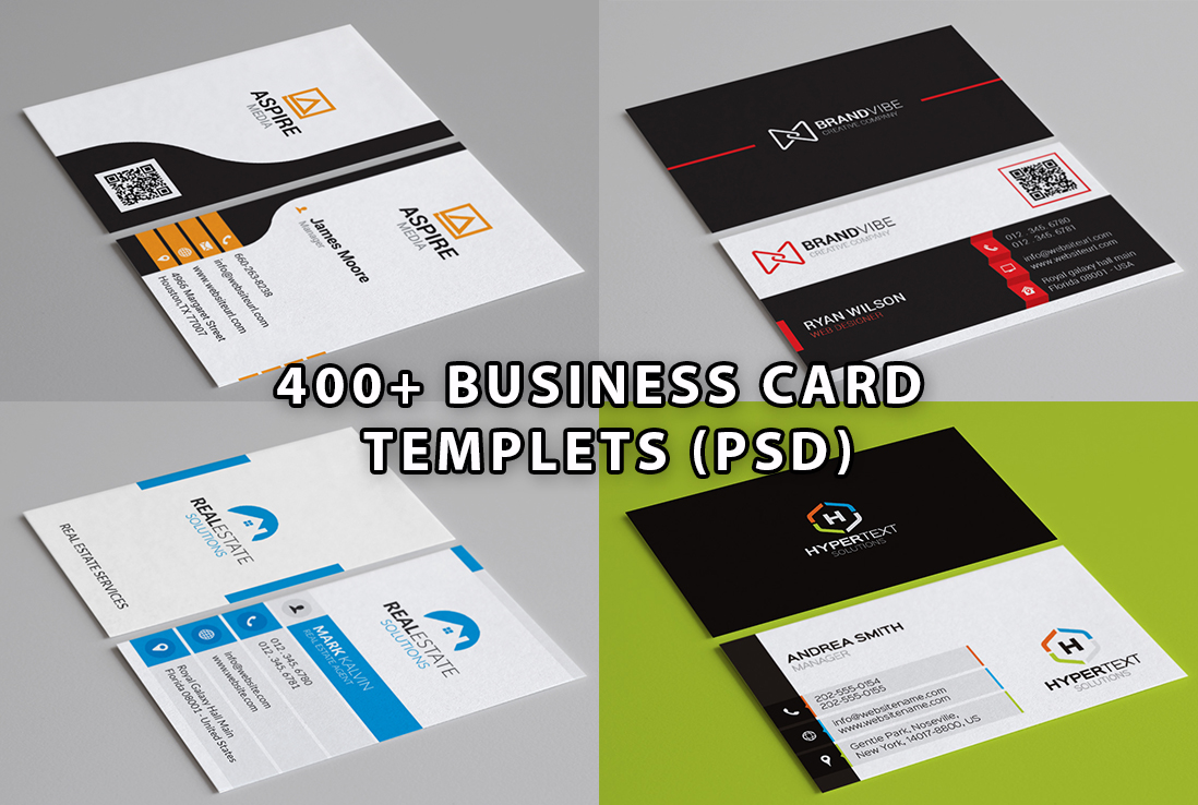 I will give you 400+ business card templets PSD