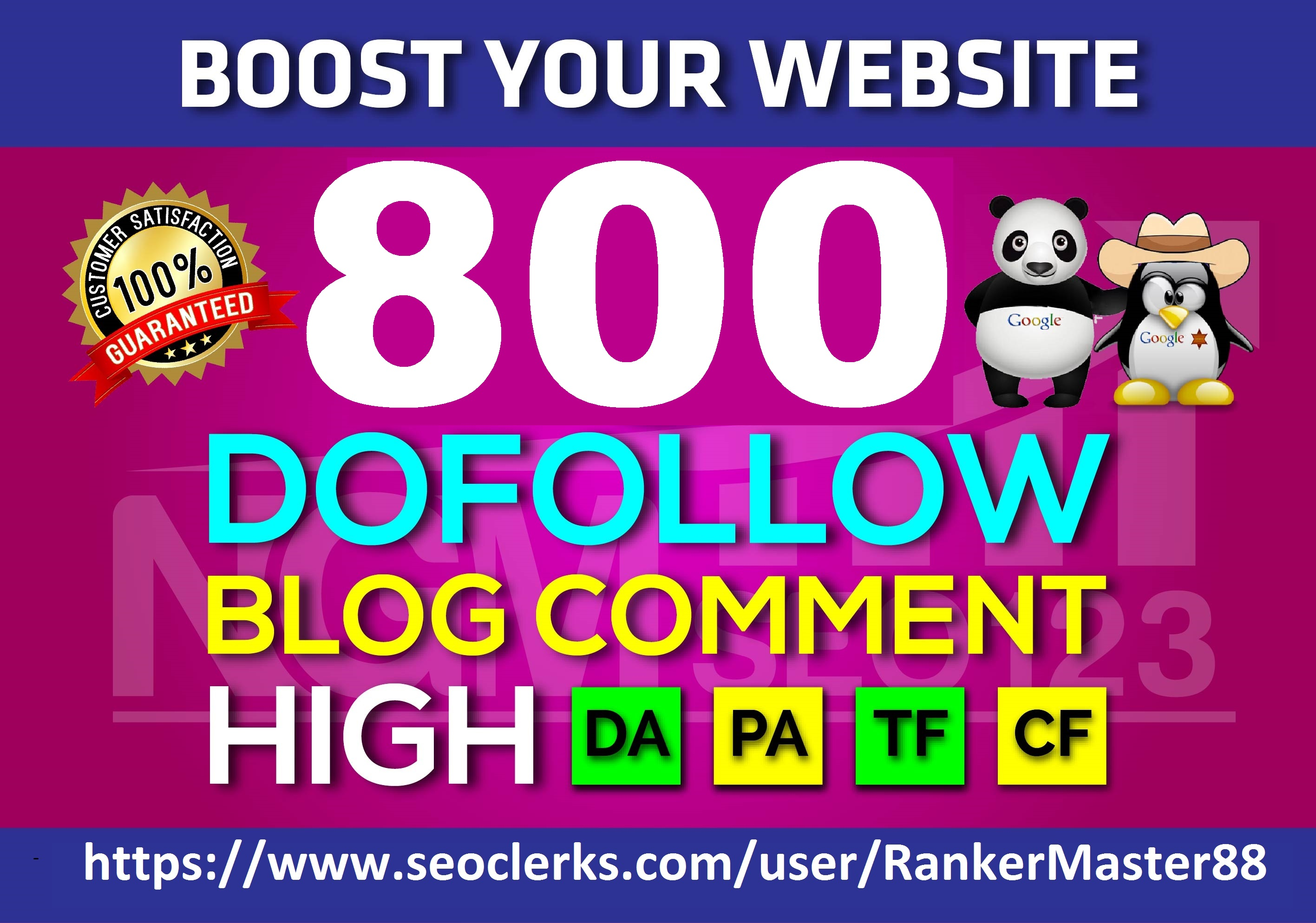 I Will Create 800 Dofollow Blog C0mments Backlinks Manually On High DA PA