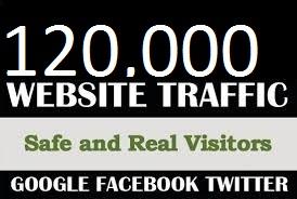 Top & Best Service 120,000 Worldwide Traffic Instagram Facebook YouTube Twitter LinkedIn for