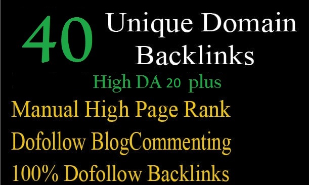 i will create 40 unique domain backlinks