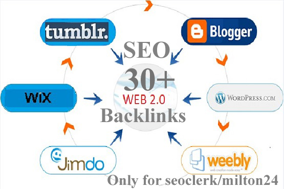 I will bulid 30 manual web 2 0 SEO backlinks