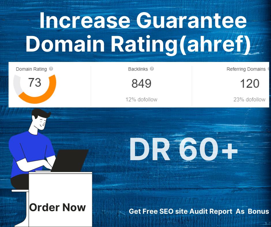 Increase Domain Rating ahref upto 40
