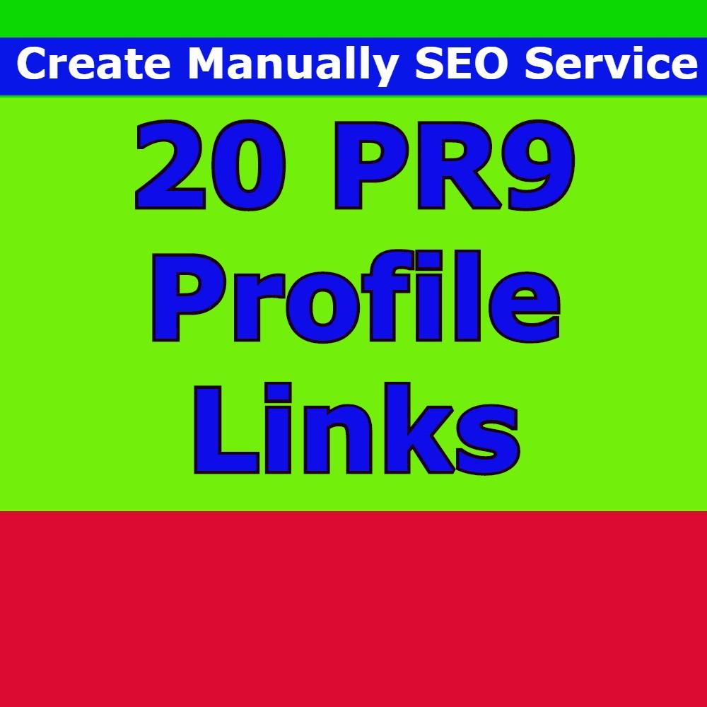 I Will Manually SEO Service 20 PR9 Profile Backlinks