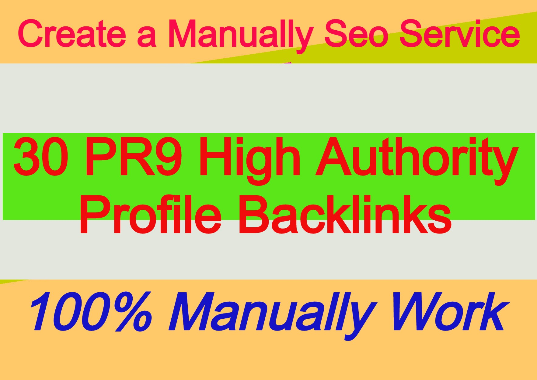 30 PR9 High Authority Backlinks From 30 HQ Profile links