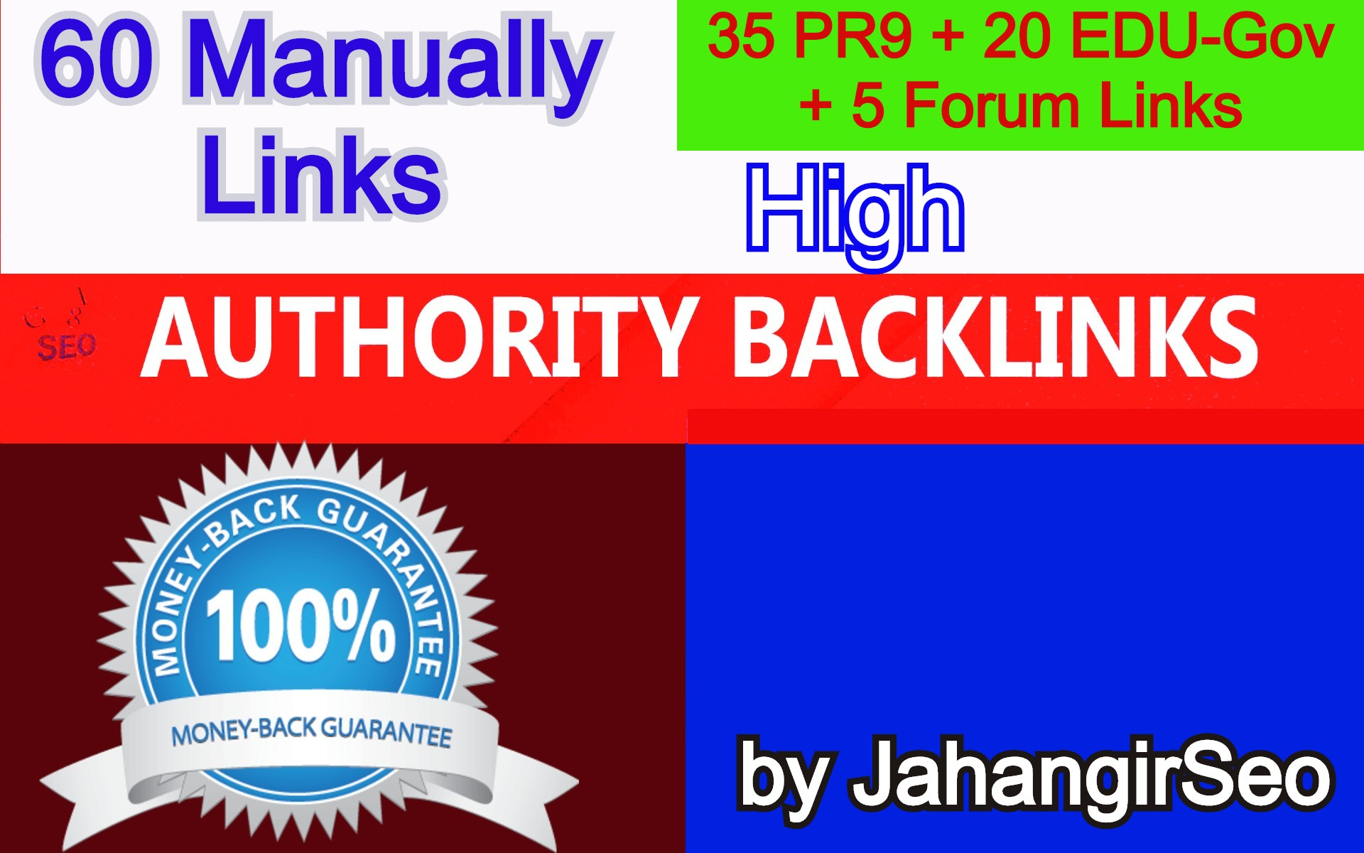 60 High Authority Backlinks From 35 HQ Profile + 20 Edu-Gov Profile + 5 Forum Profile Links