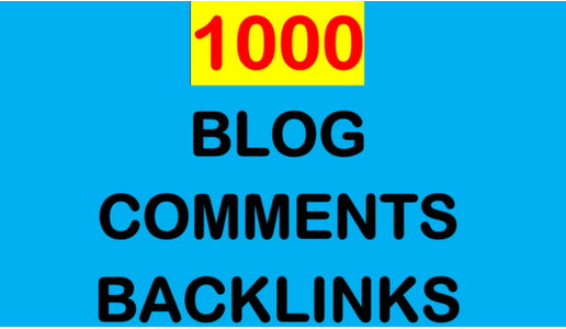 I will Create 1000 Backlinks for Any Website using blog comments