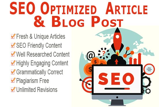 I will write 300-400 words SEO optimized Article