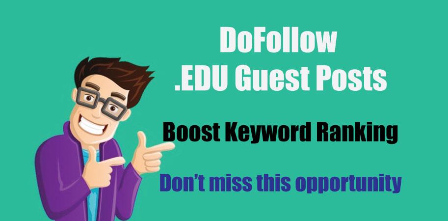 Write and Publish EDU Guest Posts on University Blog - DoFoIIow Links