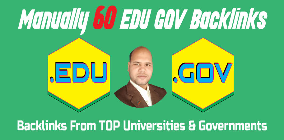 60 EDU GOV Backlinks Manually Created From Universities & Governments