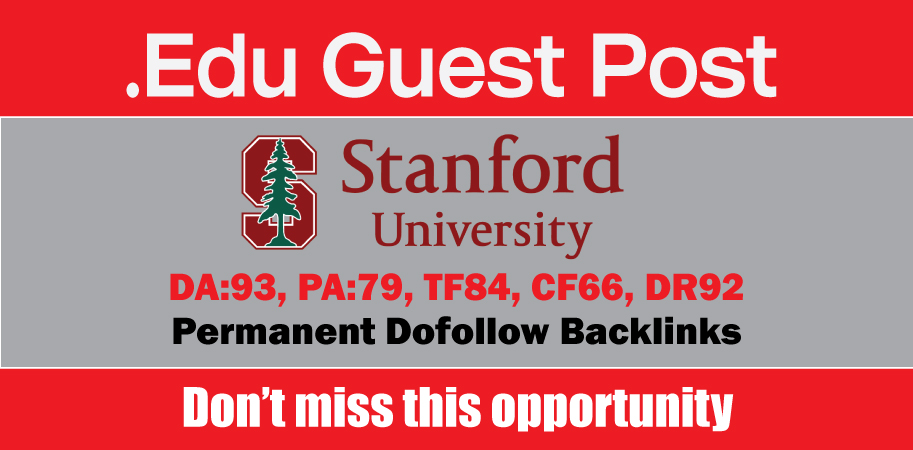 Publish EDU Guest Post on Stanford DA93,  DR92 - DofoIIow Link