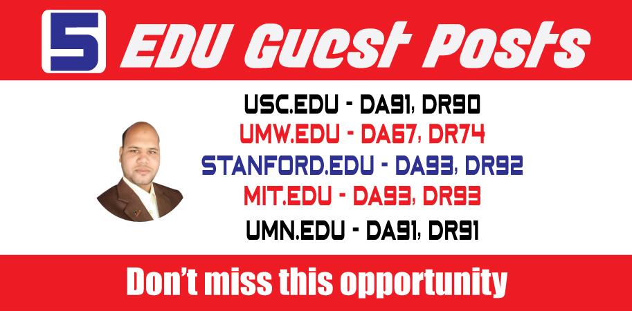 TOP 5 DA90 EDU Guest Posts on USA Universities