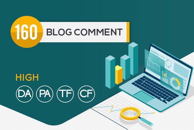 I will do 160 high pa da blog comments backlinks manually