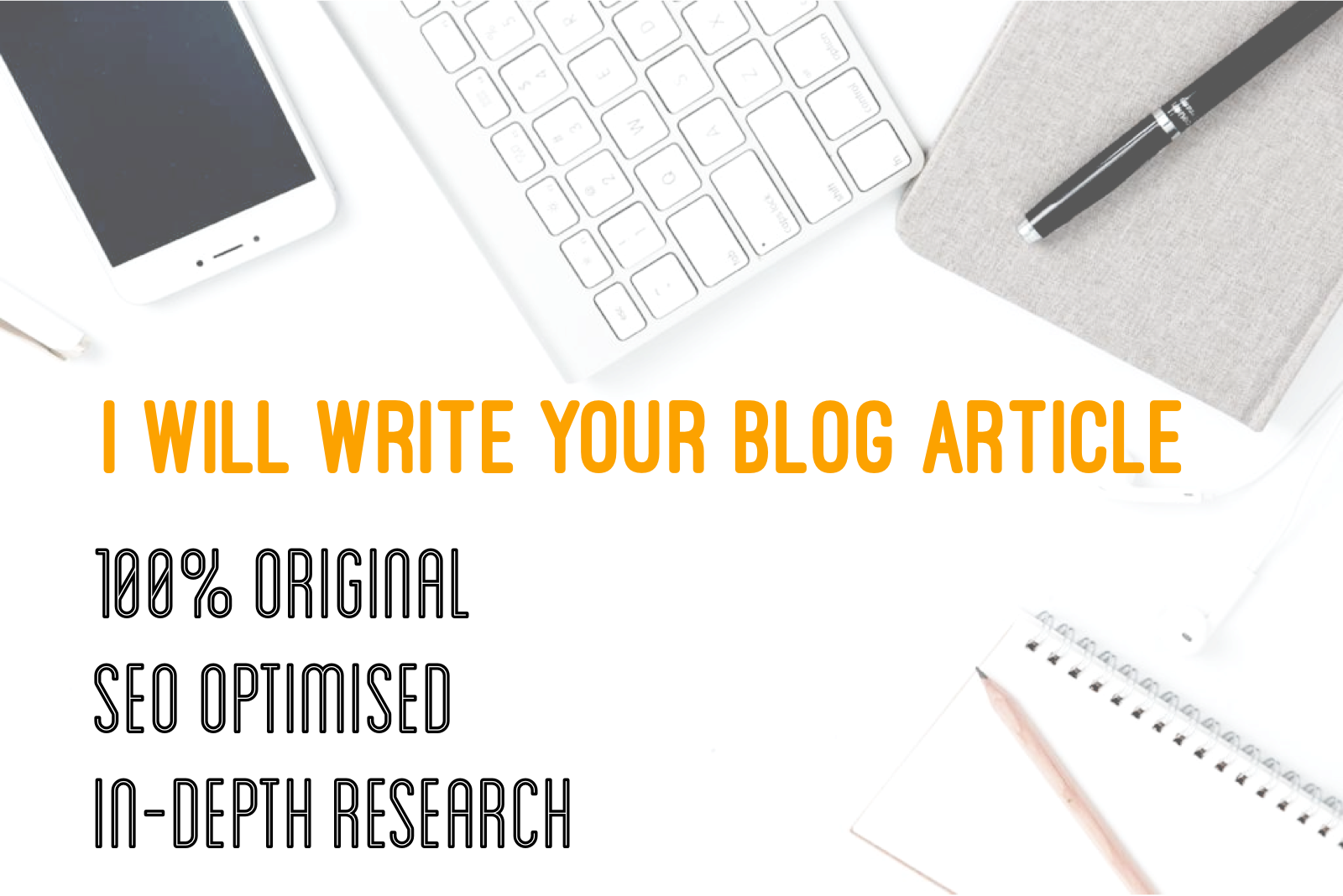 I will write 100 original blog articles